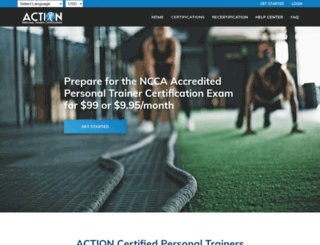 actcertification.org screenshot