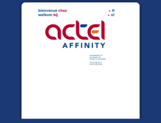actelaffinity.be screenshot