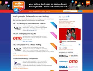actie-korting.nl screenshot