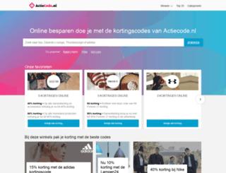 actiecode.nl screenshot