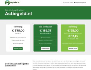 actiegeld.nl screenshot
