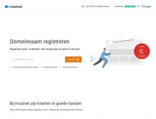acties.hostnet.nl screenshot