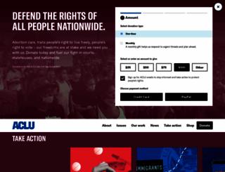 action.aclu.org screenshot