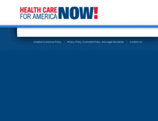 action.healthcareforamericanow.org screenshot