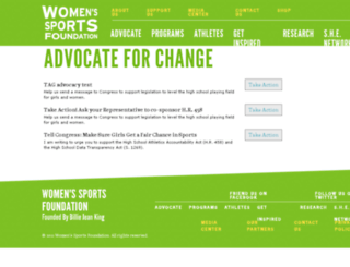action.womenssportsfoundation.org screenshot