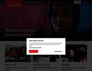 actionaid.org.uk screenshot