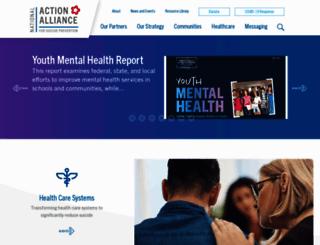 actionallianceforsuicideprevention.org screenshot