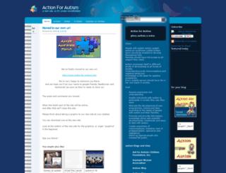 actionforautism.blogspot.com screenshot