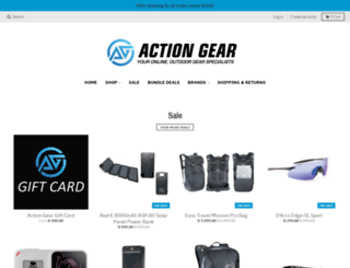 actiongear.co.za screenshot