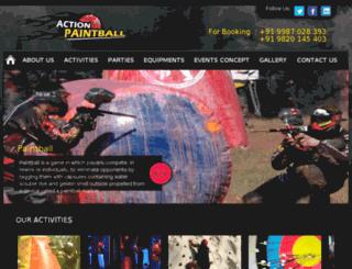 actionpaintball.in screenshot