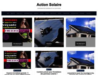 actionsolaire.com screenshot