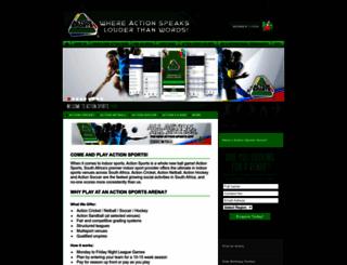 actionsports.co.za screenshot