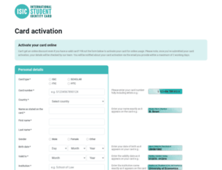 activate.isic.org screenshot