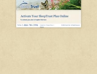 activate.sleeptrust.com screenshot
