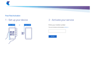 activation.telstra.com screenshot