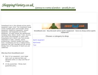 active-sports-equipment.shoppingvariety.co.uk screenshot