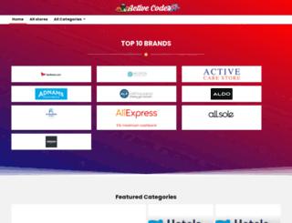 activecodes.co.uk screenshot