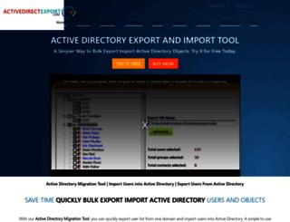 activedirectoryexport.com screenshot