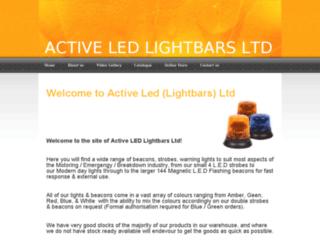 activeledlightbars.co.uk screenshot
