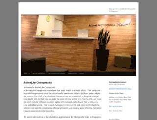 activelifechiropractic.com.sg screenshot