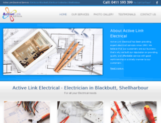 activelinkelectrical.com.au screenshot