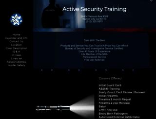 activesecuritytraining.com screenshot