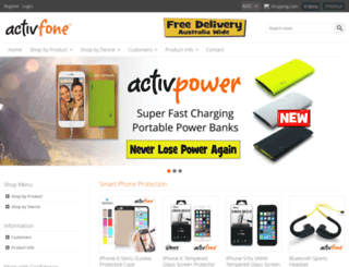 activfone.com.au screenshot