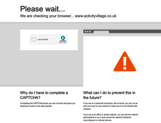 activityvillage.co.uk screenshot
