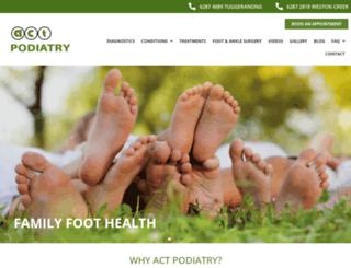 actpodiatry.com.au screenshot
