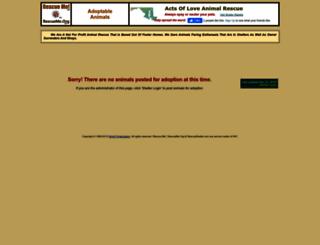 actsofloveanimalrescue.rescueme.org screenshot