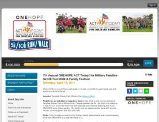 acttodayformilitaryfamilies.kintera.org screenshot