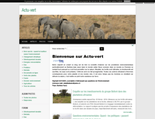 actu-vert.blog4ever.com screenshot