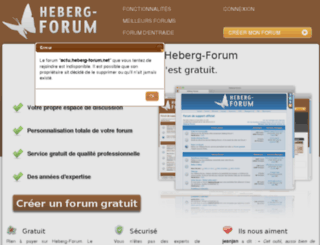 actu.heberg-forum.net screenshot