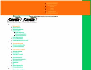 actua-organisation.fr screenshot