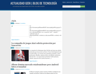 actualidadgeek.blogspot.com screenshot