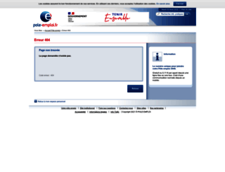 actualisation-authent.pole-emploi.fr screenshot