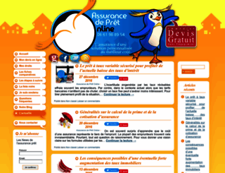 actualite-immobilier.assurance-de-pret-online.com screenshot