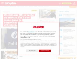 actualite.lacapitale.be screenshot