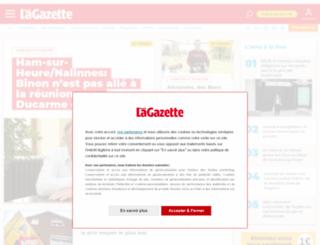 actualite.lanouvellegazette.be screenshot
