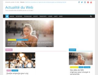 actualiteduweb.com screenshot