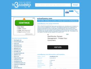 actuallyamy.com.w3snoop.com screenshot