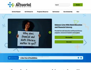 actuarialfoundation.org screenshot