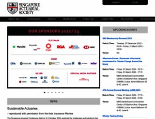 actuaries.org.sg screenshot