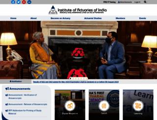 actuariesindia.org screenshot