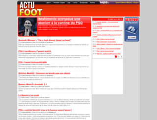 actufoot.net screenshot