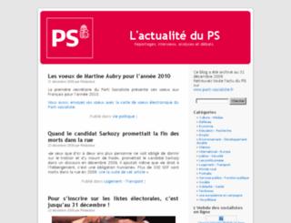 actus.parti-socialiste.fr screenshot