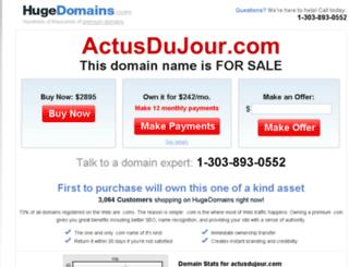 actusdujour.com screenshot