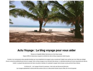 actuvoyage.fr screenshot