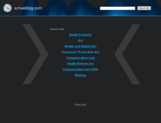 actweblog.com screenshot