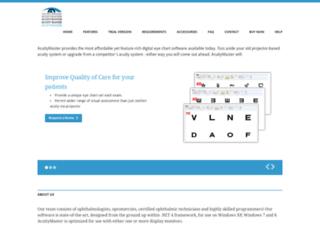 acuitymaster.com screenshot